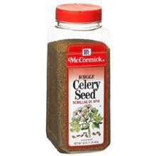 McCormick Whole Celery Seed - 16 oz. container, 6 per case