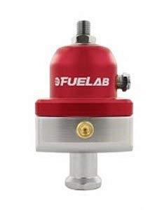 Fuelab 55501-1 Black 4-12 PSI Universal Carbureted Blocking Style Adjustable Fuel Pressure Regulator
