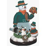"""MIAMI DOLPHINS Limited Edition Memory Company """"Snowman Cheer"""" Snowglobe Christmas Figurine"""