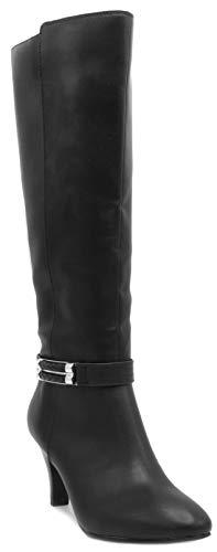 London Fog Womens Event Heeled Dress Boot Black 11