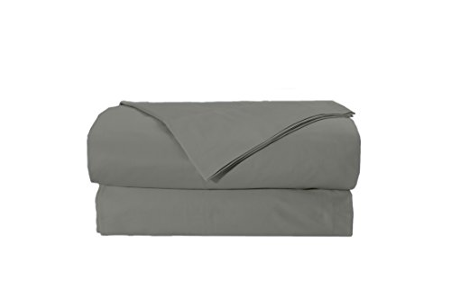 EL&ES Bedding Collections Bed sheets 400 Thread Count, 100% Cotton Full Sheet Set, Feather Touch Collection, 4-Piece Bedding Set, Elastic Deep Pocket Fitted Sheet, Grey