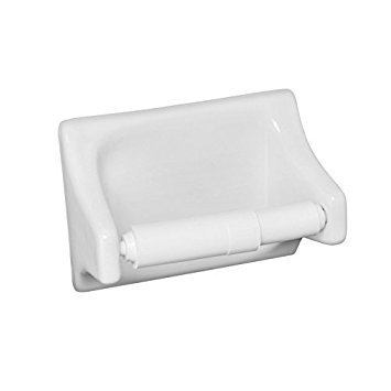 - Daltile Bath Accessories Toilet Paper Holder White Glazed Ceramic
