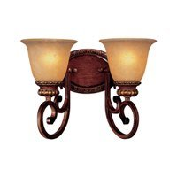Walnut One Light Bath Fixture - 5