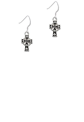 Antiqued Celtic Cross - French Earrings