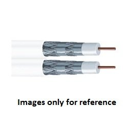 1000 COMMSCOPE 8219504/10 34 AWG Riser Standard Bare Copper White RG 6 Coaxial