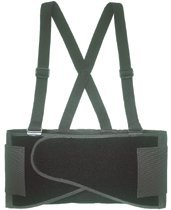 Elastic Back Support Belts, Medium, Black (8 Pack)