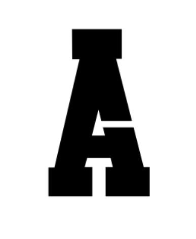 20X24 Athletic Font-Full Alphabet-Made from 4 Ply Matboard