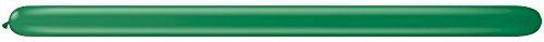 BALLOON 260Q GREEN SOLID 100 C (Solid Balloons)