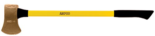 Ampco Safety Tools A-6FG Axe, Flat Head, Non-Sparking, Non-Magnetic, Corrosion Resistant, 8 lb Head, 36'' OAL