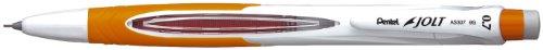(Pentel JOLT Automatic Pencil, 0.7mm, Orange Accents, Box of 12 (AS307F))