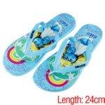 The Smurfs Summer Flipflops Slippers Sandals(Blue/38 Size)