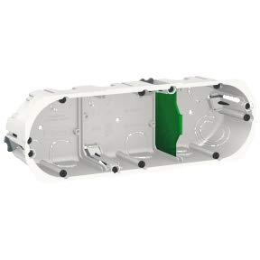 Schneider Electric - Boî te d'encastrement Multifix - 3 postes 71 mm - Diam. 67 mm - Prof. 50 mm