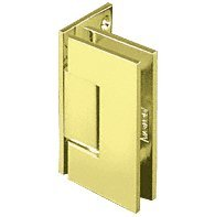 CRL Geneva 044 Series Satin Brass Wall Mount Offset Back Plate Hinge