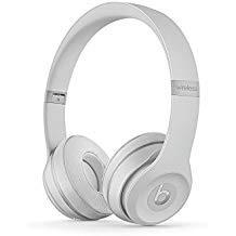 Beats Solo3 Wireless On-Ear Headphones Matte Silver - Beats by Dr Dre (Renewed) (Beats Bt Dre Studio)