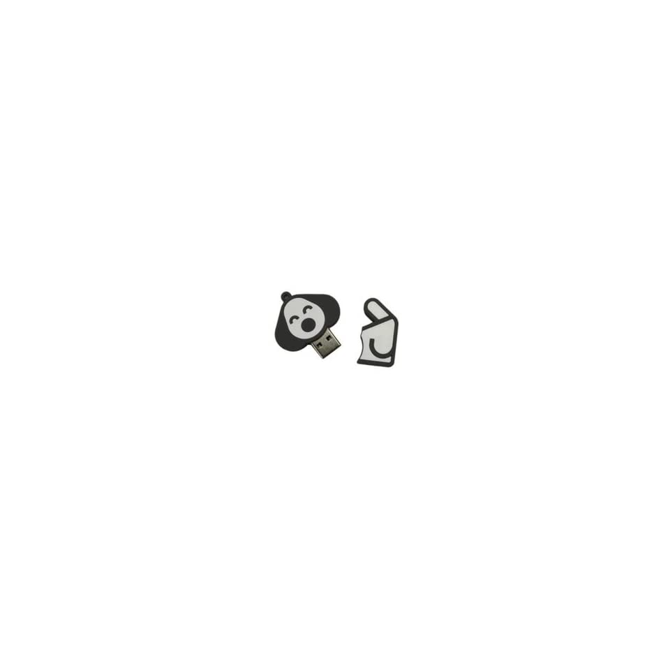 8GB Happy Dog Shaped Cartoon USB Flash Drive Gray