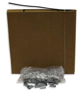 Portable Steel Strapping Kit with 3/4'' x .020'' x 300' Regular Duty Banding in a Carton Dispenser and 100 Push Seals