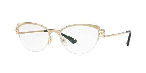 Versace VE1239B Eyeglass Frames 1339-53 - 53mm Lens Diameter Brushed Pale Gold - Cat Eyeglasses Versace Eye