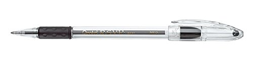 Pentel BK91A R.S.V.P. Stick Ballpoint Pen, 1mm, Trans Black Barrel, Black Ink (Pack of (Stick Pens)