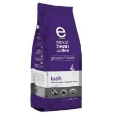 Ethical Bean Coffee Organic Lush Medium Dark Roast Ground Coffee, 8 Ounce -- 6 per case. by Ethical Bean Coffee by Ethical Bean Coffee