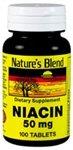 Nature's Blend Niacin 50 Milligram 100 Tabs