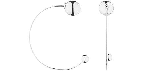Canyon bijoux Boucles d'oreilles percées en argent 925 passivé, 5g, Ø6 et 12mm