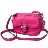 Coach Campbell Leather Crossbody Bag - Fuchsia