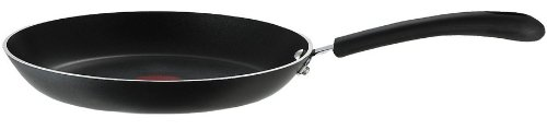 T-fal E93808 Professional Total Nonstick Thermo-Spot Heat Indicator Fry Pan, 12.5 Inch, (Black Steel Round Frying Pan)