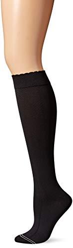 - HUE Women's Graduated Compression Knee Socks, black, One Size