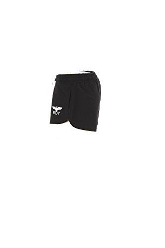 SHORTS BL1049 LONDON BOY Nero STAMPA DONNA FELPA qwgvU