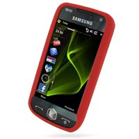 - PDair Samsung i8000 Omnia II Silicone Case Cover (Red), Full Body Protective Soft Back Case Super Thin Cover, Premium Luxury Silicone Case for Samsung i8000 Omnia II, Phone Case