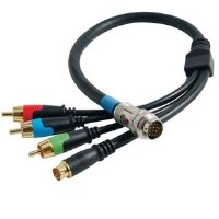 C2G/Cables to Go 42075 RapidRun Component Video and SVideo Flying Lead (1.5 Feet, Black)