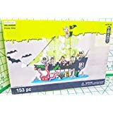 Creatology Halloween Pirate Ship with 7 Skeleton Pirates 153 Piece kit scissers Needed MSRP $29.99 -