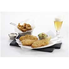 King and Prince Mrs.Fridays Tavern Beer Battered Breaded Halibut - 1 to 2 Ounce, 10 Pound -- 1 each.