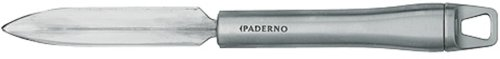 Paderno World Cuisine V-Shaped Deco Knife, Stainless Steel Blade & Handle, 8 7/8''