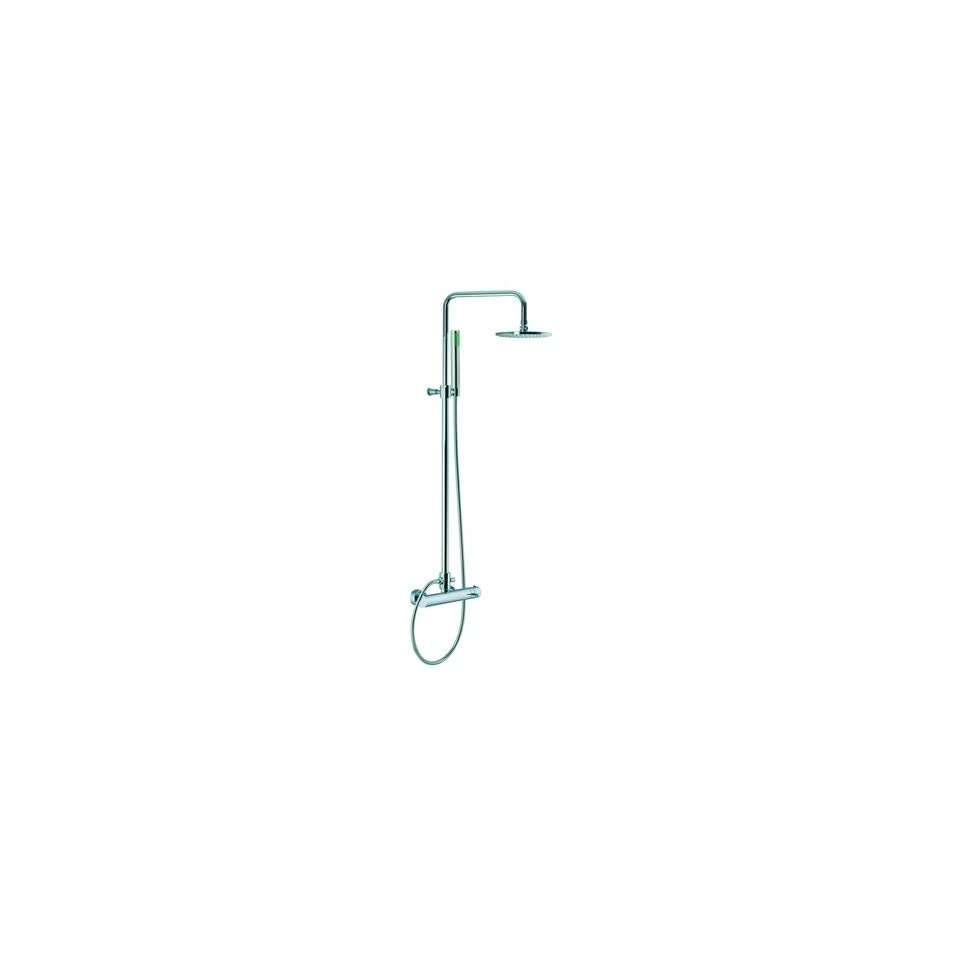 Spillo Wall Mount Thermostatic Shower Faucet with Hand Shower Finish Chrome