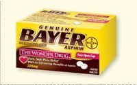 273420 Bayer Aspirin Tablets 325mg 100 Per Bottle by Bayer Consumer Products -Part no. 273420 ()