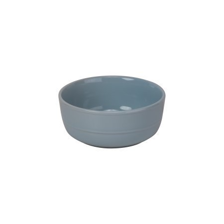 Sophisticated Simplistic Double Lined Light Blue Ceramic for Soup, Salad, Cereal, and Dessert Bowls Catering Pack, Set of 12