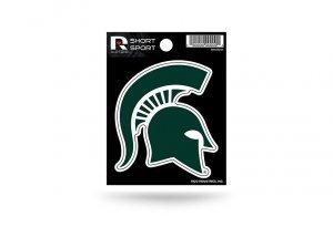 Rico Industries NCAA Michigan State Spartans Die Cut Team Logo Short Sport Sticker