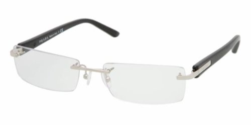 Prada 52m Silver / Black Frame Rimless Eyeglasses, 52mm: Amazon.co ...