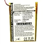 Battery for Sony NWZ-A801, A805, A805B, A805P, A805W, A806V, A806B, A806W, A806P, A810, A815, A816, A818, A818BLK, A808B, A828KBLK, A829BLK