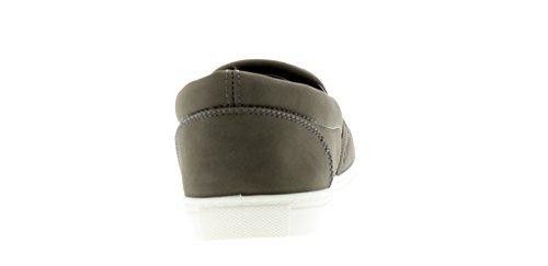 Croft Originals New Mens/Gents Grey Nubuck Slip On Shoes - Grey - UK Sizes 6-12 VB319vBYH