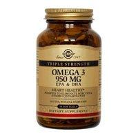 Solgar Triple Strength Omega-3 950 mg Softgels, 100 S Gels 950 mg(Pack of 4) by Solgar
