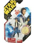Star Wars-Han Solo Ultimate Galactic Hunt Action Figure with Vac-Metalized Gold Colored Coin