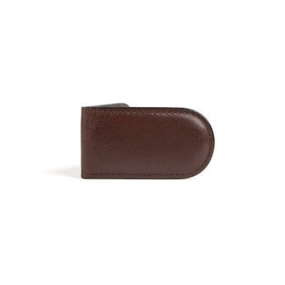 Bosca Mens Old Leather - Bosca Old Leather Collection - Magnetic Money Clip Money Clip Dark Brown Leather