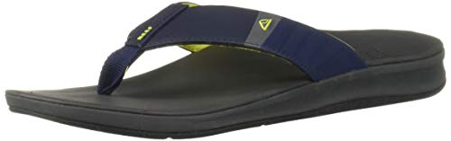 Reef Men's Ortho-Bounce Sport Sandal, Navy/Yellow, 070 M US by Reef (Image #6)