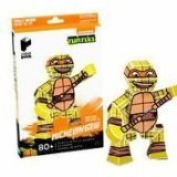 Paper Punk Teenage Mutant Ninja Turtle TMNT Michelangelo Pizza Build Your Own Paper Action Figure Toy Nickelodeon