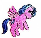 Pink-Blue My Little Pony Unicorn Horse Comics 2.5 x 2.5 inches cartoon patch Jacket T- shirt Patch Sew Iron on Embroidered Badge Sign Costum (My Little Pony Costums)