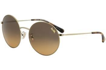 Coach Womens Sunglasses Gold/Grey Metal - Non-Polarized - - Glasses Coach Women