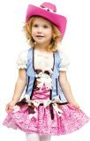 Fun World Costumes Baby Girl's Rodeo Sweetie Toddler Costume, Pink/Blue, Large (Pink Cowgirl Costume)