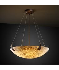 Justice Design Group ALR-9642 - Tapered Clips 24'' Pendant Bowl - Round Bowl Shade - Dark Bronze (Bowl 24' Shade)